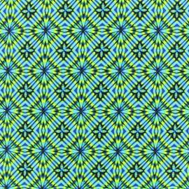 Tissu Lycra Maillot de bain Disco square - bleu x 10cm