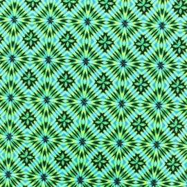 ♥ Coupon 130 cm X 150 cm ♥ Thick Swimsuit Lycra fabric - Disco square - green