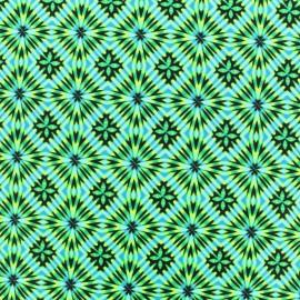 Tissu Lycra épais Maillot de bain - Disco square - vert x 10cm