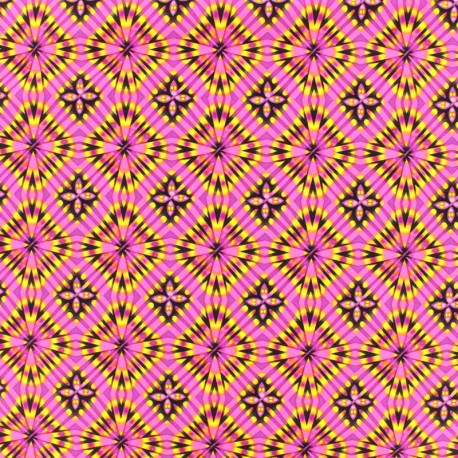 Thick Swimsuit Lycra fabric - Disco square - pink x 10cm