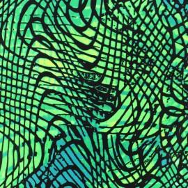 Tissu Lycra épais Maillot de bain - Croco d'îles - vert x 10cm