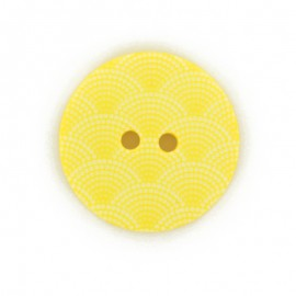 Bouton polyester Ecaille - jaune