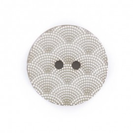 Bouton polyester Ecaille - gris