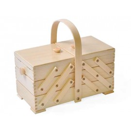 Wooden cantilever Sewing box - raound handle