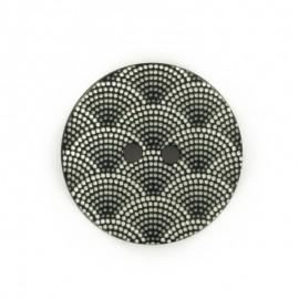 Bouton polyester Ecaille - noir