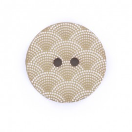 Bouton polyester Ecaille - beige
