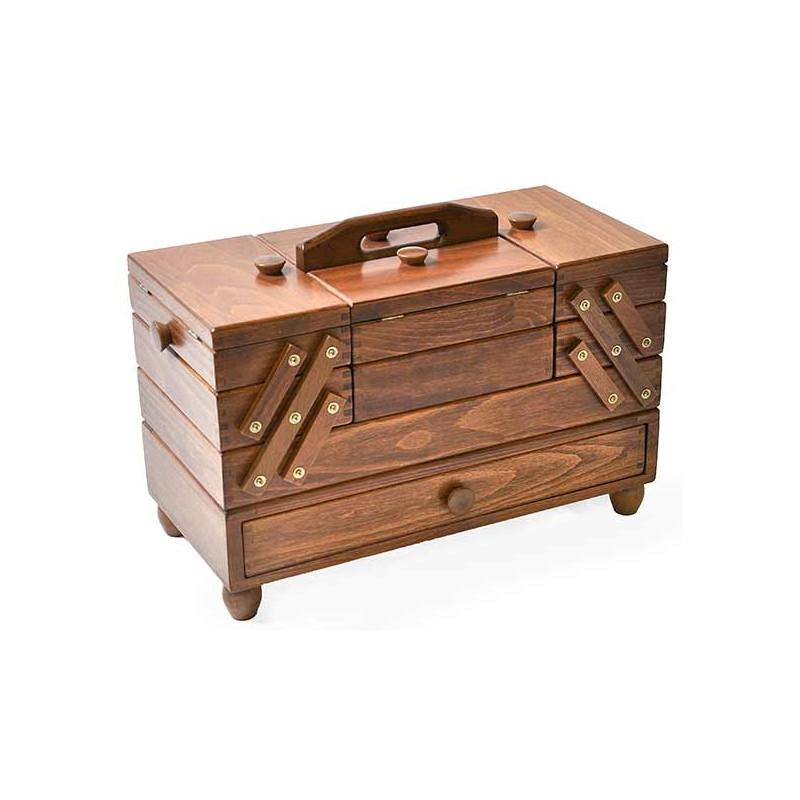 travailleuse bois fonc boite couture haute qualit. Black Bedroom Furniture Sets. Home Design Ideas