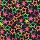 Tissu Lycra épais Maillot de bain - Stars light - fluo x 10cm