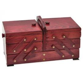 Wooden cantilever Sewing box - Mahogany