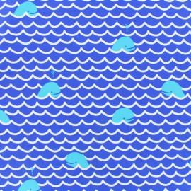 1cb9fc4b25 Tissu lycra: Tissu lycra maillot de bain Baleines bleu - MPM