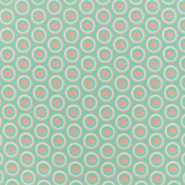 Cotton fabric satin poplin - Turkey - mint x 10cm
