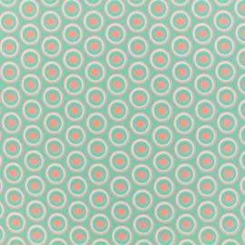 Cotton fabric satin poplin - Turkey - mint x 10cm