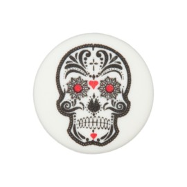 20 mm Cinco de Mayo polyester button - white