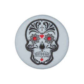 20 mm Cinco de Mayo polyester button - grey