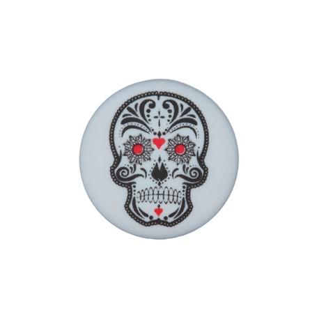 20 mm Cinco de Mayo polyester button - grey