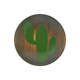 Tropico collection cactus button - brushed metal