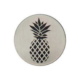 Bouton métal Ananas collection Tropico - métal brossé