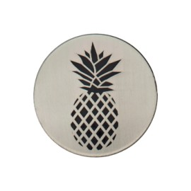 Pineapple button Tropico collection - brushed metal