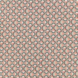 Tissu coton popeline satinée - plate - corail x 10cm