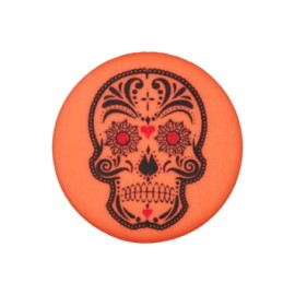 20 mm Cinco de Mayo polyester button - fuchsia