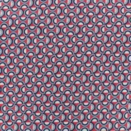 Tissu coton popeline satinée - plate - rouge x 10cm