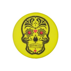 20 mm Cinco de Mayo polyester button - yellow