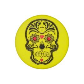 Bouton polyester Cinco de Mayo 20 mm - jaune