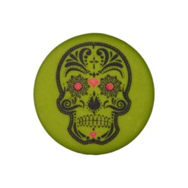 20 mm Cinco de Mayo polyester button - khaki