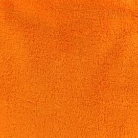 Tissu Doudou carotte x 10 cm