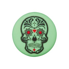 20 mm Cinco de Mayo polyester button - mint