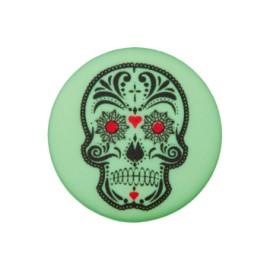 Bouton polyester Cinco de Mayo 20 mm - vert amande