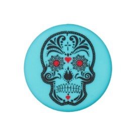 20 mm Cinco de Mayo polyester button - turquoise
