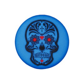 20 mm Cinco de Mayo polyester button - blue