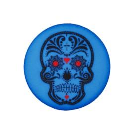Bouton polyester Cinco de Mayo 20 mm - bleu