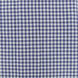 Gingham Seersucker fabric - blue x 10cm