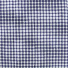 Tissu Seersucker vichy - bleu x 10cm