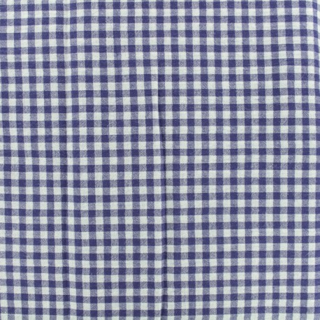 Gingham Seersucker fabric - blue x 10cm