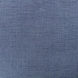 mini Gingham Seersucker fabric - blue x 10cm
