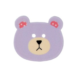 28 mm Teddy bear polyester button - purple