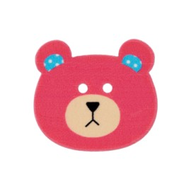 28 mm Teddy bear polyester button - fuchsia