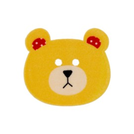 28 mm Teddy bear polyester button - yellow