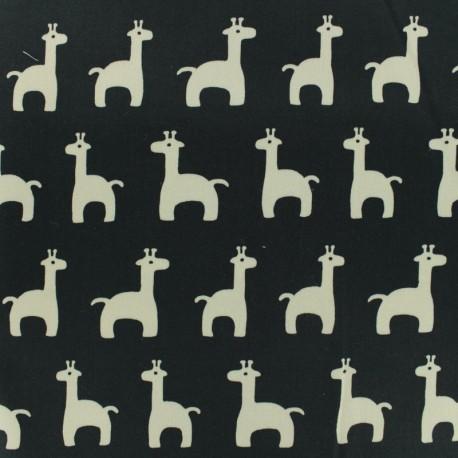 Satiny Lycra Gabardine Fabric Sophie - black and white x 10cm