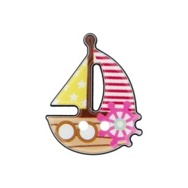 25 mm Boat polyester button A