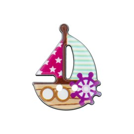 25 mm Boat polyester button B