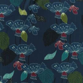 Tissu Crêpe Georgette onirisme nocturne - bleu x 10cm
