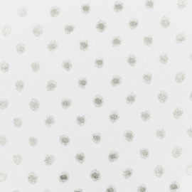 ♥ Coupon 200 cm X 140 cm ♥ White muslin Fabric - gold pattern