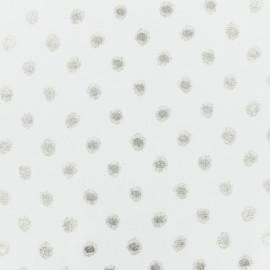 Tissu mousseline pastilles - blanc/or x 50cm