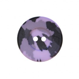 Bouton polyester Camouflage Army - violet