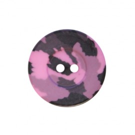 Polyester button Camouflage Army - purple