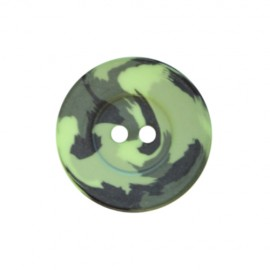 Bouton polyester Camouflage Army - vert